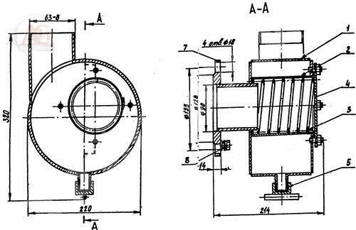 Фильтр сливной ФС-80 гидравлический. Чертеж